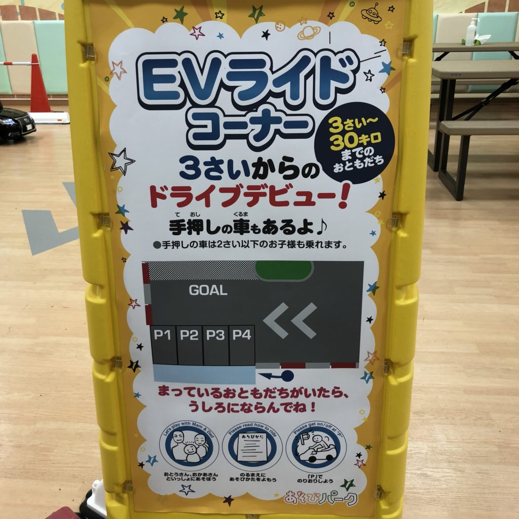 EVカー説明の看板