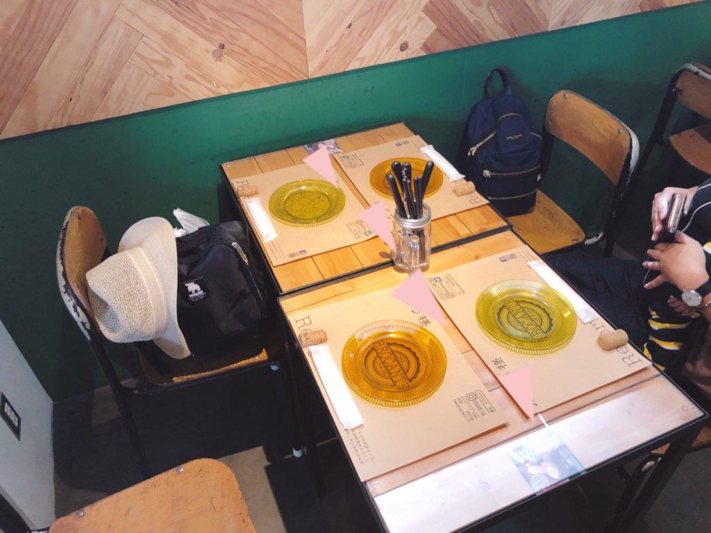 ブロカント 四名掛けテーブル