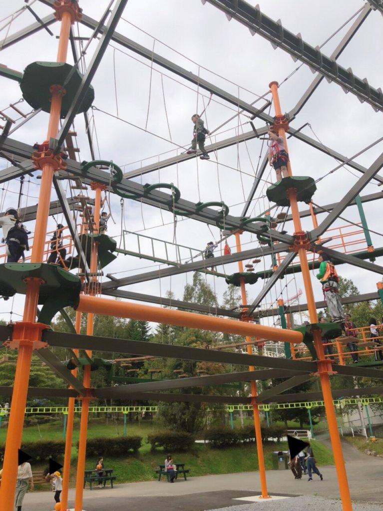 ルスツ遊園地の新アトラクションスカイトレイル