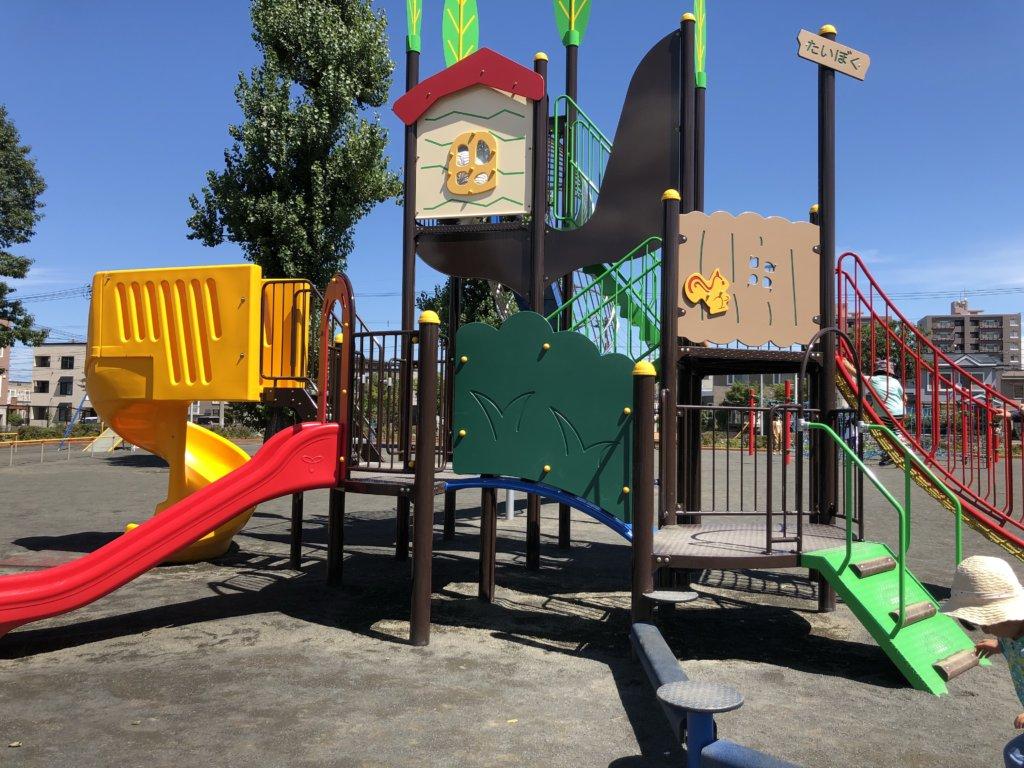 発寒西公園の大型の複合遊具