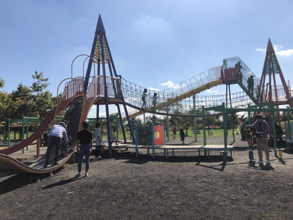 屯田公園のコンビネーション遊具