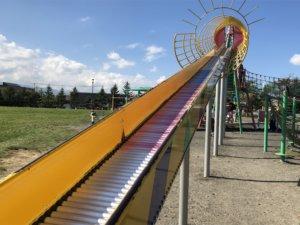 屯田公園の長いローラー滑り台