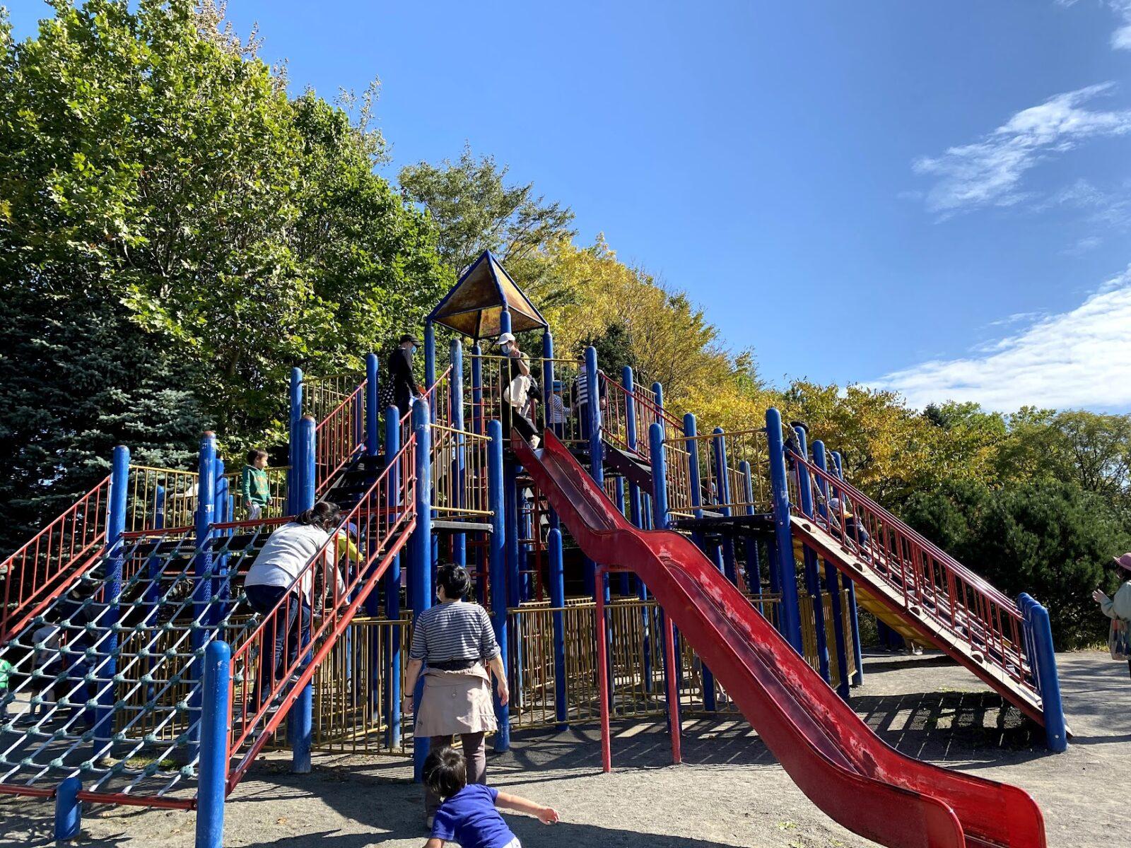 札幌 公園 百合が原公園 大型遊具