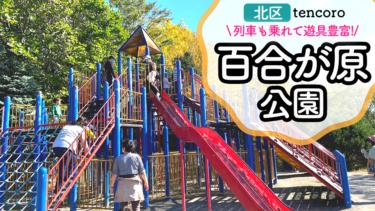 【札幌市北区 百合が原公園】コンビ遊具が沢山!迷路に列車、1日楽しい広々公園